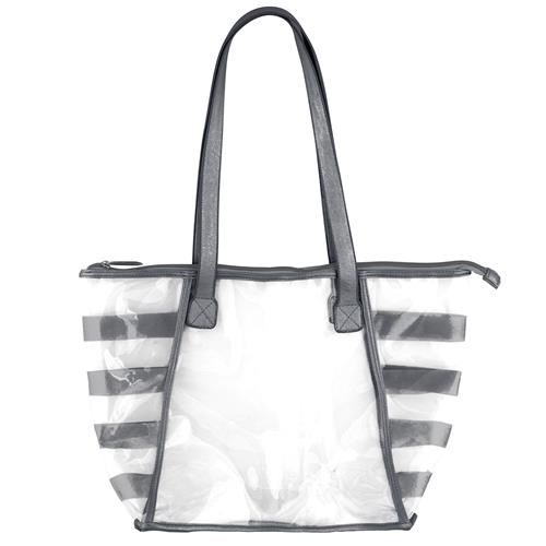 GOLD RUSH CLEAR TOTE CHARCOAL (F17)