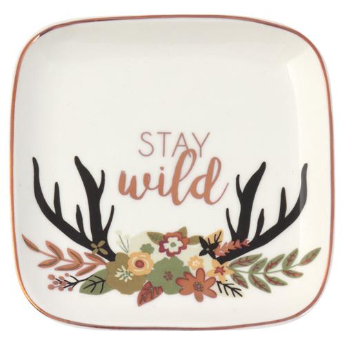 LARGE SQUARE TRINKET TRAY  WILD (F19)