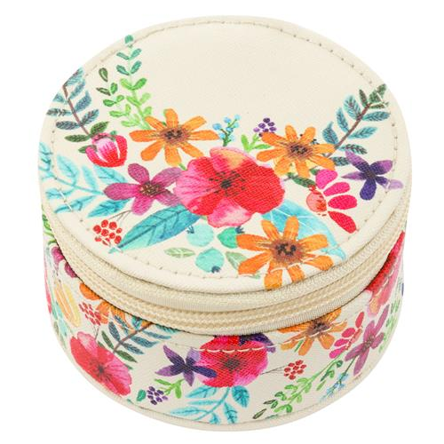 ROUND TRAVEL CASE FLORAL (F18)