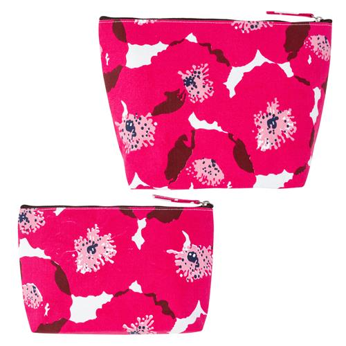 CANVAS CARRY ALL BAG SET PINK POPPY