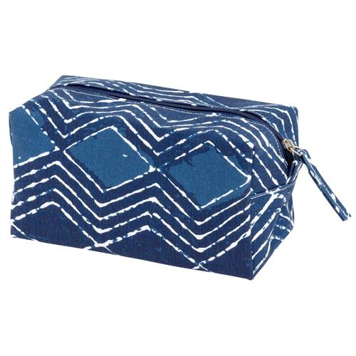 CANVAS COSMETIC BAG  BLUE BATIK  (S20)